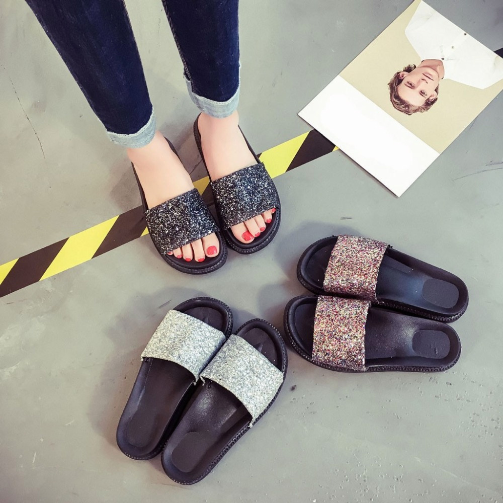 Shoes Woman Sandals High Heels Women Sandals Flat Casual Shoes Summer Sandals Women 2019 Summer Shoes Genuine Platform Slippers