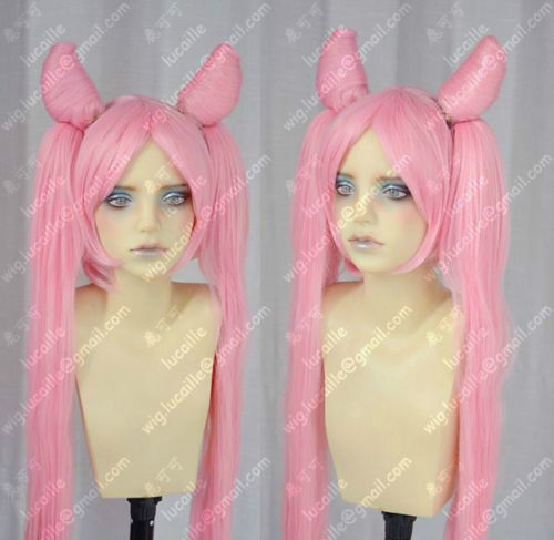 Sailor Moon Sailor Chibi moon Small Lady Black Lady Cosplay Party Wig+CAP>>>girls Cosplay wig Free shipping цена