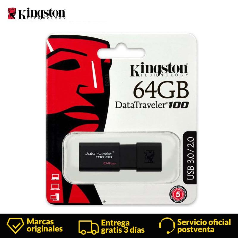 Kingston USB Flash Drive pendrive 32GB GB 64 16GB 128GB Data Traveler 256GB USB 3.0 memória flash usb stick DT100G3
