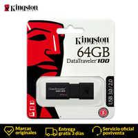 Kingston technologie clé USB clé USB 32 GB 16 GB 64 GB 128 GB 256 GB données voyageur usb 3.0 mémoire Flash clé USB DT100G3