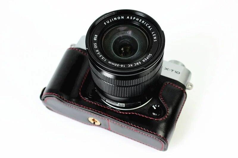 free shipping PU Leather Half Case for Fuji Fujifilm XT10/XT20Digital X-T10 X-T20 Camera Brown/Black/Coffee