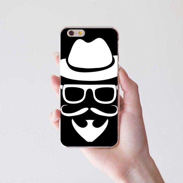42d64df38 Creative mustache man phone back case cover for iphone in half jpg 640x640  Mustache case