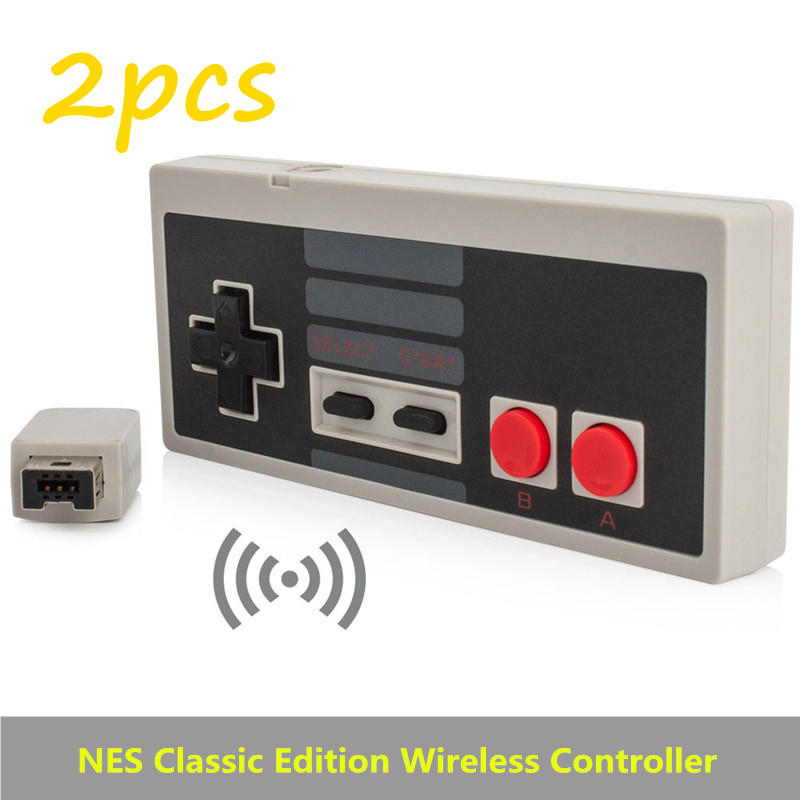 2pcs Wireless Plug and Play Gamepad Gaming Controller for Nintendo for NES Mini Buttons Classic Edition With Wrireless Receiver