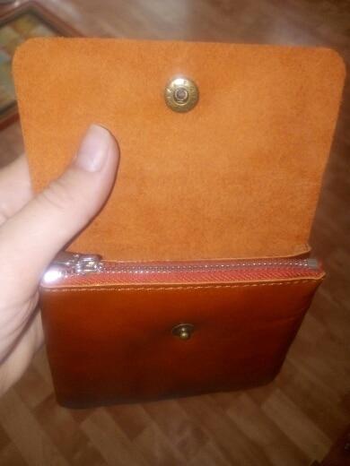 ALAVCHNV mini coin bag men leather double buckle card bag female short paragraph change purse female HY1190 photo review