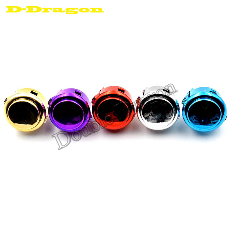OBSJ-30 Metallic Finish Snap-In 30mm Push Button Replacement For Arcade Game 5 Colors