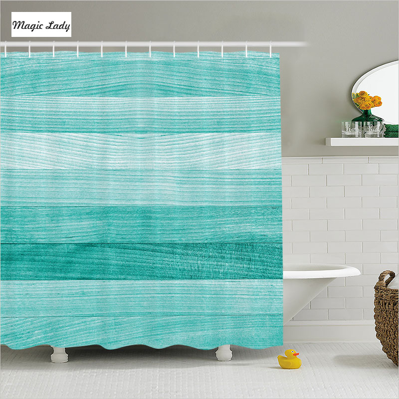 The Texture Of Teal And Turquoise: Shower Curtain Wood Bathroom Accessories Teal Collection