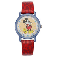 Disney Brand Original Children Boys Girls Watches Leather Quartz Students Cartoon Mickey Mouse Waterproof Gift Box