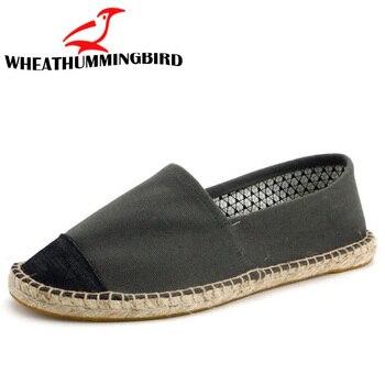 Été mode mâle classique toile de lin pêcheur mocassins chaussures hommes chaussures décontractées respirant appartements chanvre Espadrilles LA-3333