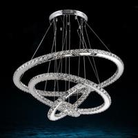 Modern crystal 4 ring LED Crystal Chandelier 58W Lights Lamp restaurant Cristal Lustre Chandeliers Lighting Pendant Hanging