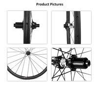 12 мм через мост замок дискового тормоза 45 мм углерода дороги велосипед колеса 26 мм шириной 35 мм довод дорожный дисковые тормоза колеса
