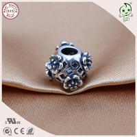 DIY Hot Sale Good Quality Titanium 925 Real Silver Small Flower Hollow Charm Famous Bracelet