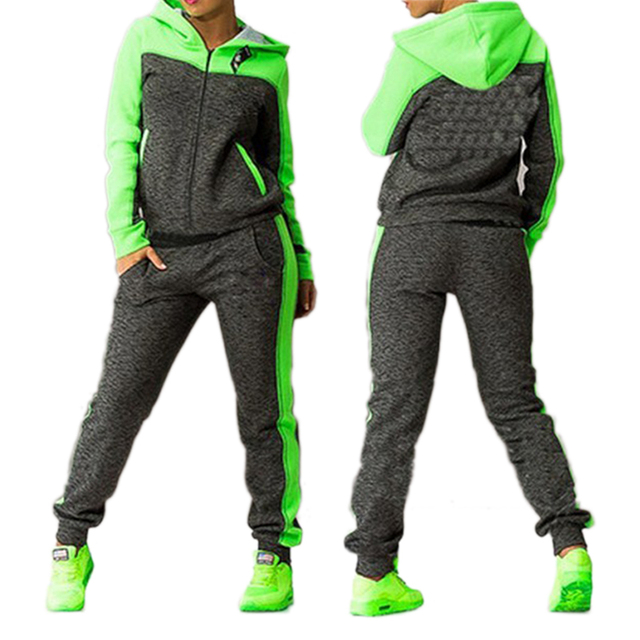 57798097572 US $14.67 34% OFF|Women's Sports Suits Two piece Tracksuit Women Sportswear  Winter Set Suit Hooded Sport Suit Women Jogging Suits For Women-in Yoga ...
