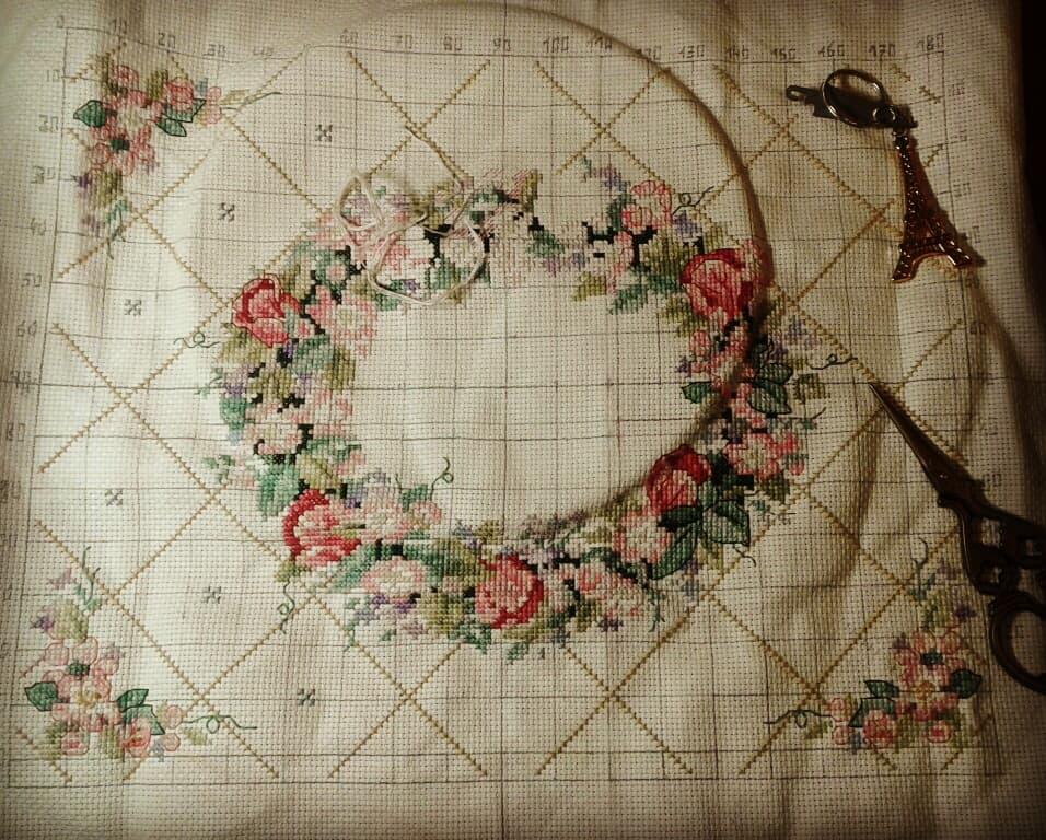 Spring Flowers \u2022 Counted Cross Stitch Pattern Kit \u2022 Place Mat Mats Iris Lily Crocus \u2022 Something Special X-Stitch XStitch Patterns Leaflet