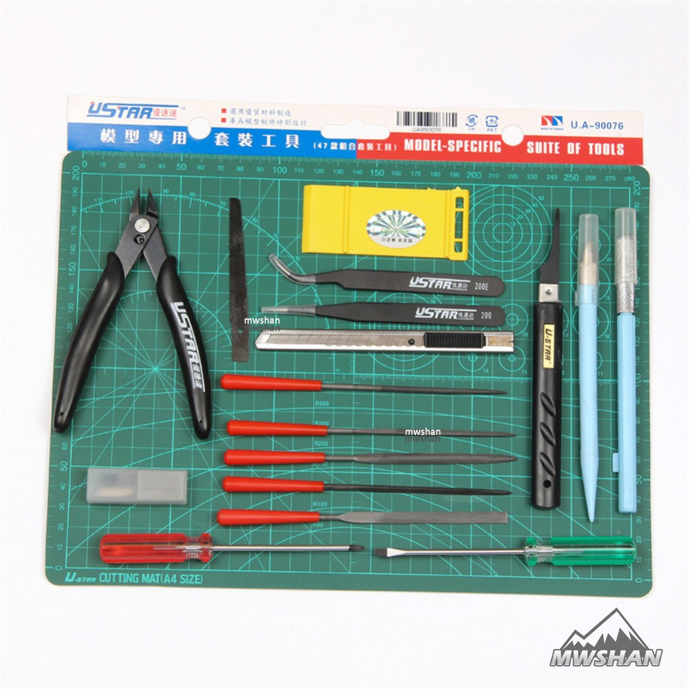 Ustar 90076 Modeling Specific Suite of Tools (17Pcs/Set) Model Hobby Suite Accessory