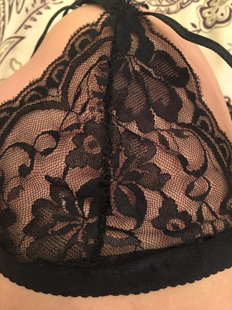 Sexy Bra Floral Lace Wire Bra Bustier Sheer Top Seamless Bralette Transparent Cup Wireless Bras Brassiere Lingerie Underwear