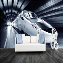 HD Custom Mural 3D Car Cool Wallpapers For Walls Fashion Train Wall Covering Bedroom Home