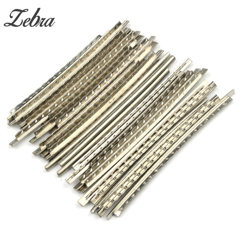 Zebra 24pcs/set Acoustic Electric Guitar Bass Accessories Nickel-copper Alloy Fret Wire 2.0MM / 2.2MM / 2.4MM / 2.7MM / 2.9MM guitar hook hanger wall stand for electric acoustic bass guitar part accessories black 4 pcs