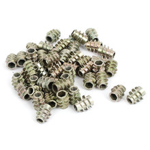 M4x10mm Zinc Plated Hex Socket Screw In Thread Insert Nut 50Pcs For Wood