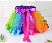 Christmas Halloween Fluffy 3 Colors Girls Rainbow Tutu Skirts Baby Kids Tulle Tutu Skirt Children Baby