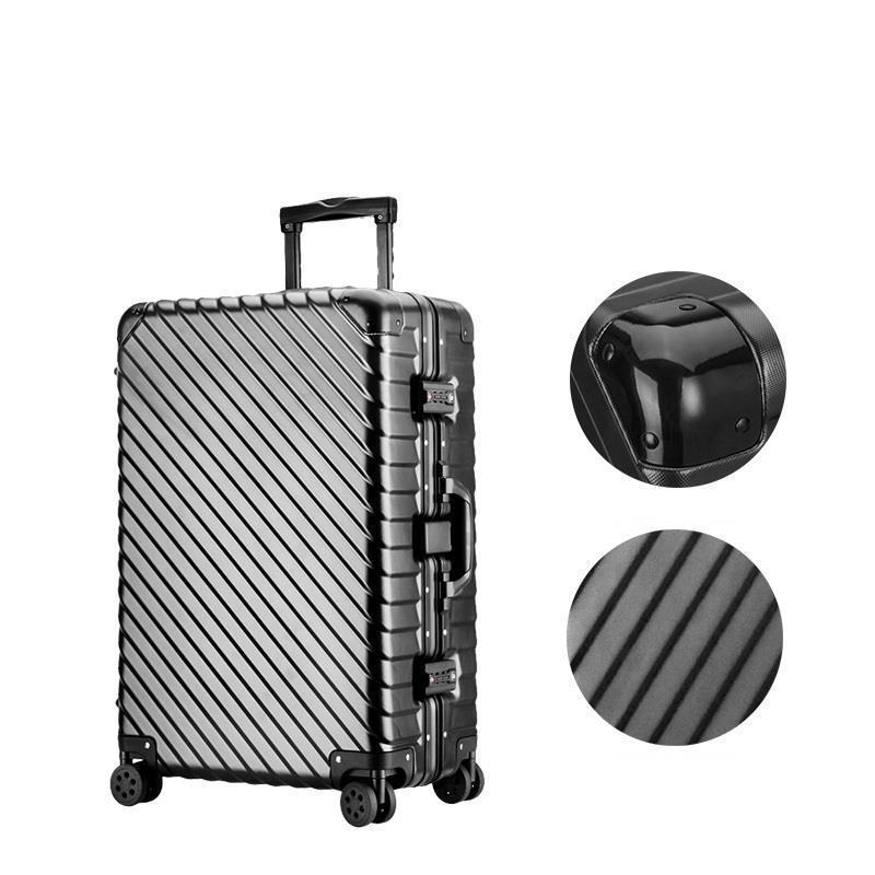 Väska med hjul Valise Väskor Roulettes Aluminiumlegering Ram Mala - Väskor för bagage och resor - Foto 2