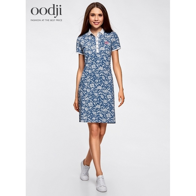 oodji 2017 Dress Polo pique fabric free shipping across Russia  24001118247005 170 cm oodji 2017 Women Dress Shipping b541d4bc52