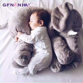 1 pc 60 cm 유아 부드러운 appease 코끼리 놀이 친구 평온한 인형 아기 appease 장난감 코끼리 베개 플러시 장난감 인형