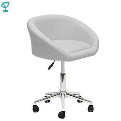 94959 Barneo N-311 Полубарный кухонный стул на колесах S9 белый интерьерный дизайнерский стул кресло на роликах современная мебель для кухни барный ...