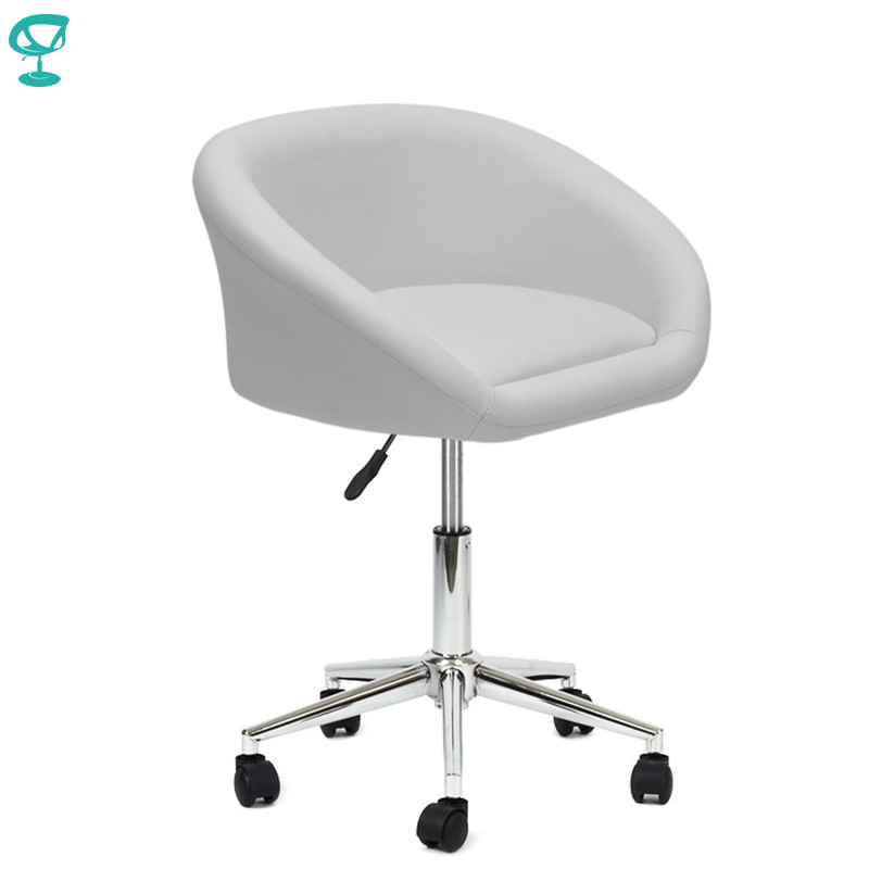 94959 Barneo N 311 Leather Roller kitchen chair Swivel Bar Chair White free shipping in Russia