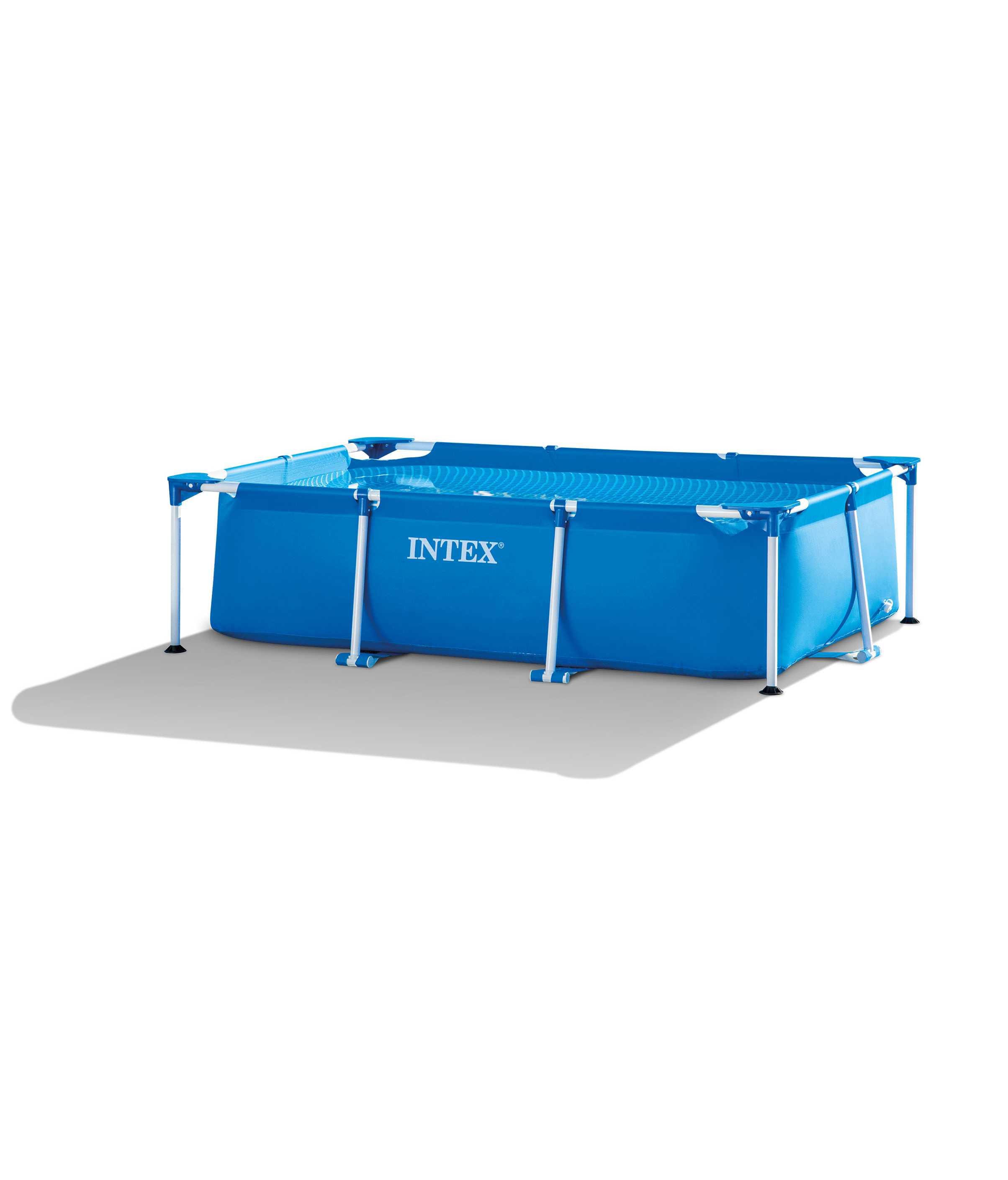 Scaffold Rectangular Pool For Garden Summer Leisure Summer Outdoor Size 220x150x60 Cm, 1662 L, Intex, Blue, Item No. 28270