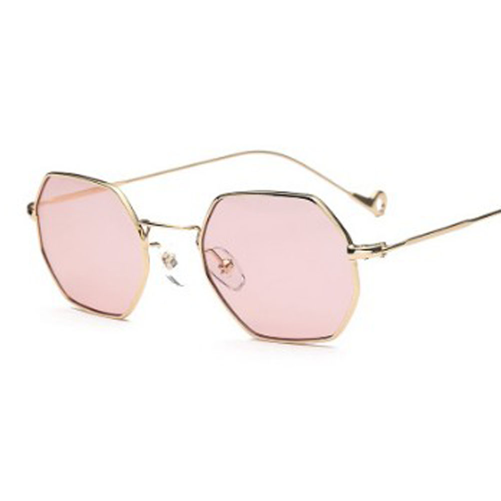 01e8a641681a0 2018 Lente Polígono Hexágono De Metal Quadro Óculos de Sol Do Vintage