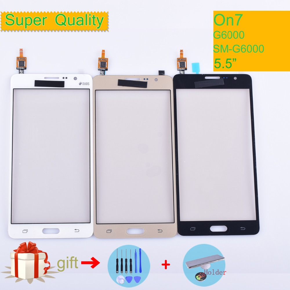 AAAAA For Samsung Galaxy On7 G6000 SM-G6000 Touch Screen Panel Sensor Digitizer Glass Touchscreen NO LCD Black White Gold