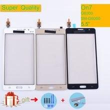 AAAAA Voor Samsung Galaxy On7 G6000 SM-G6000 Touch Screen Panel Sensor Digitizer Glas Touchscreen GEEN LCD zwart wit goud