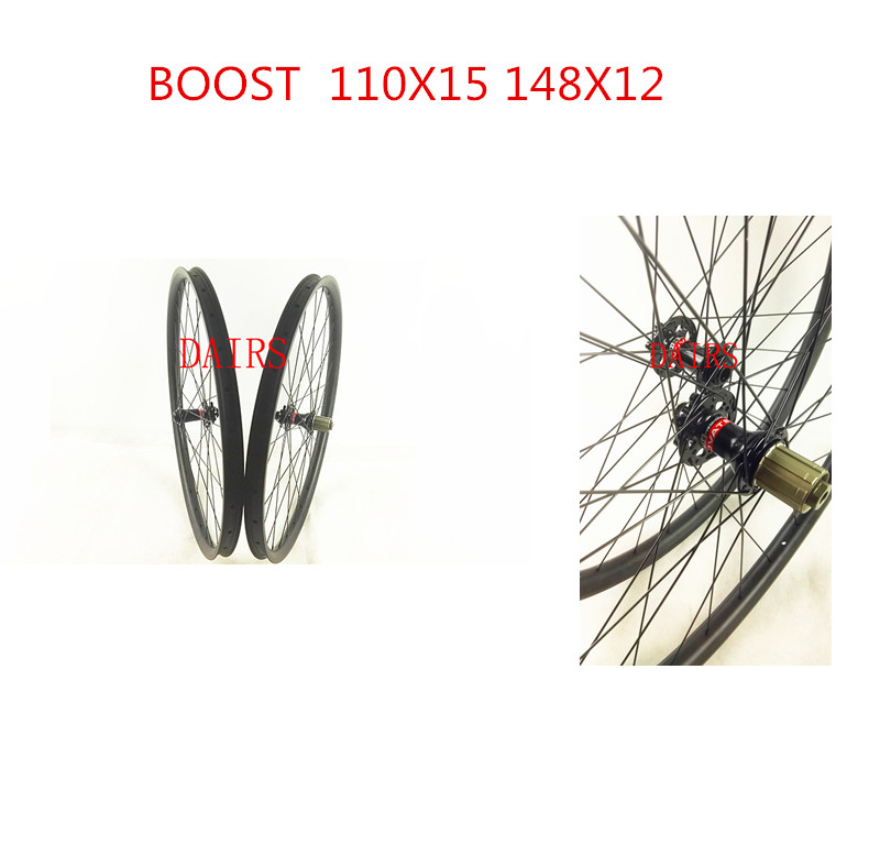 27.5er MTB wheels 30mm width 650B mtb boost hubs 110X15 148X12 UD/3K matte glossy MTB wheels 27 5er mtb wheels width 35mm carbon mtb wheels novatec 791 792 thur axle 650b mountain bikes bicycle mtb wheels