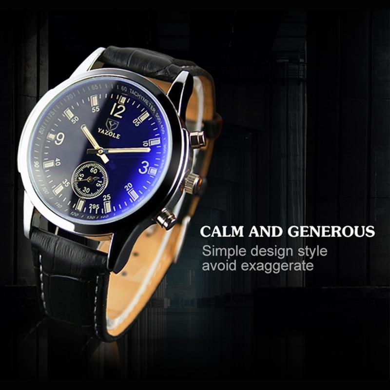 Mannen kijken Ultra luxe merk lederen klok Mannen waterdicht Casual - Herenhorloges