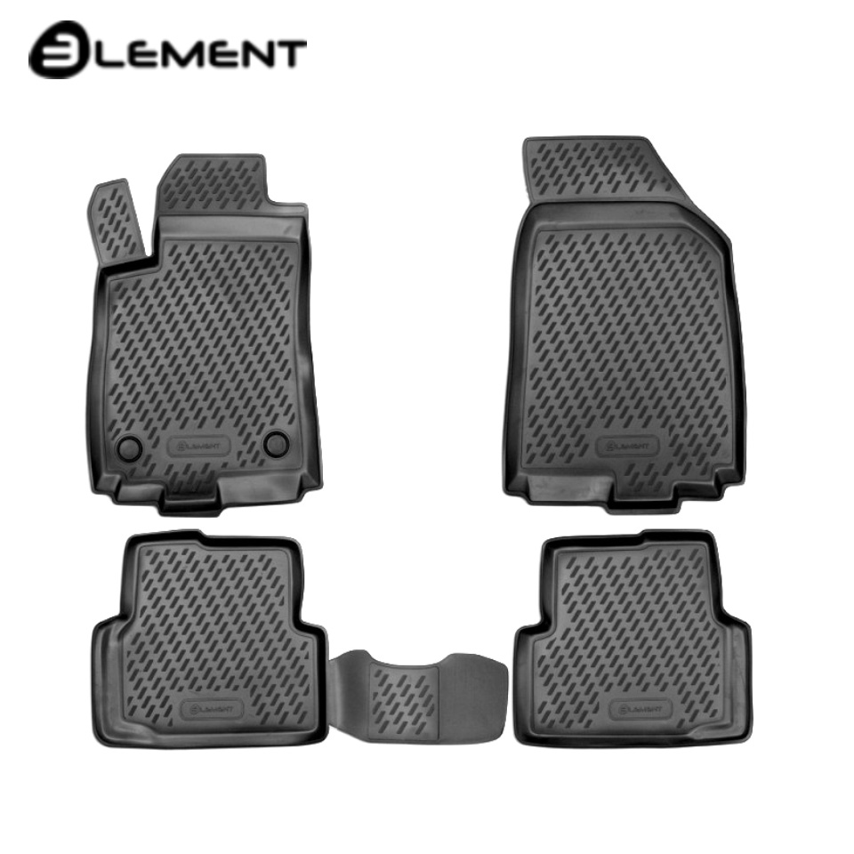 цена на For Chevrolet Aveo T300 2011-2015 floor mats into saloon 4 pcs/set Element CARCHV00021