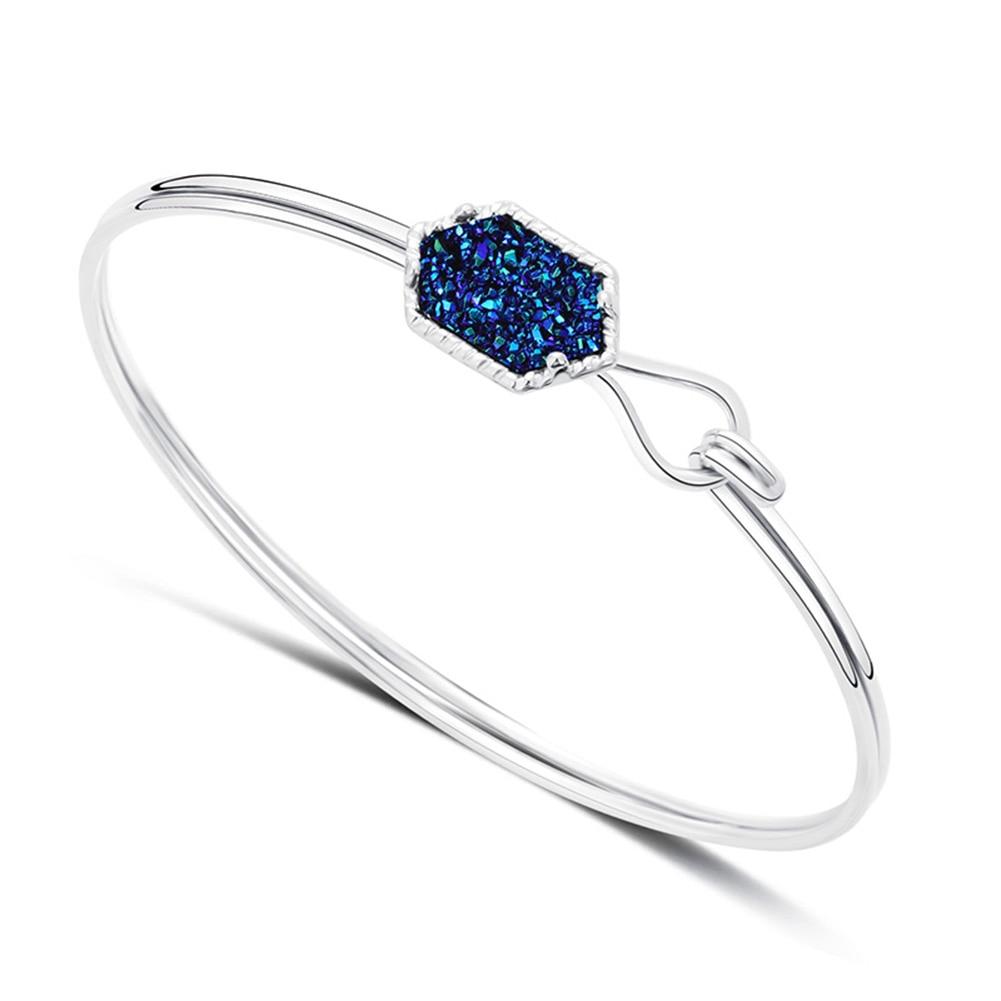 Fashion Circle Irregular Stone Cuff Bangle Bracelet Party Women Jewelry Gift