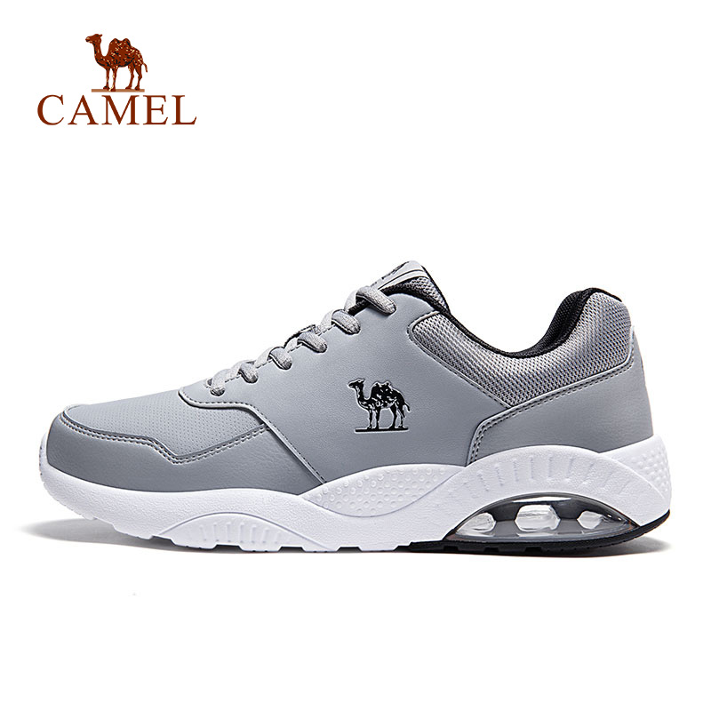 CAMEL New Leather Running Shoes Casual Comfortable Outdoor Jogging Walking Sneakers Breathable Air Cushion Sport Shoes For Men camel shoes 2016 women outdoor running shoes new design sport shoes a61397620