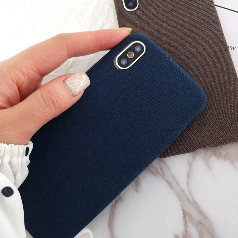 Moskado Plush Fabrics Phone Case For Apple iPhone X XS Max XR 8 7 6s 6