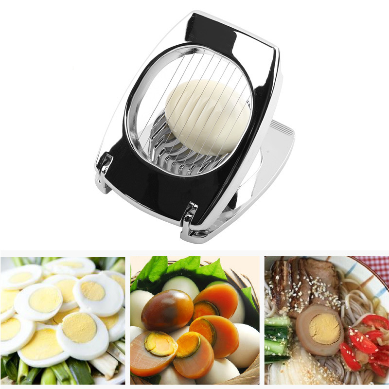 Smooth Surface Egg Cutter Slicer Boiled Eggs Section Divider Piercer Food Grade Mushroom Holder Cutting Tools Kitchen Gadgets ...