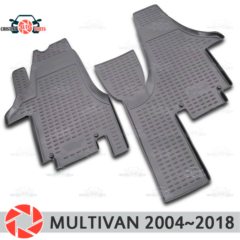 Floor mats for Volkswagen Multivan 2004~2018 rugs non slip polyurethane dirt protection interior car styling accessories