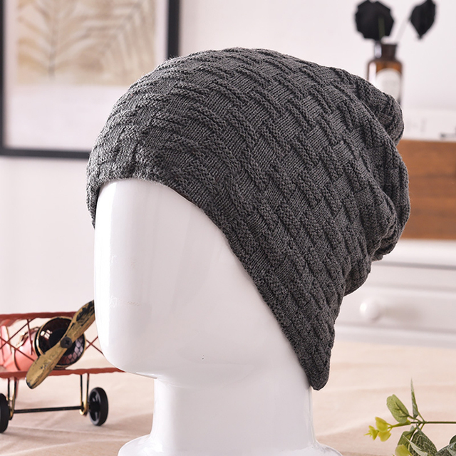 d774d3c244b Hip Hop Casual Men s Snow Winter Warm Solid Color Skiing Outdoor Beanie Hat