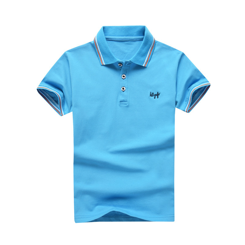 Kids Boy Tops 2018 Summer Short Sleeve Cotton Children T shirt Turn-down Collar Polo Shirts Casual Teenage Boys Clothes BC007 men s slim fit casual turn down collar solid color short sleeve polo t shirt