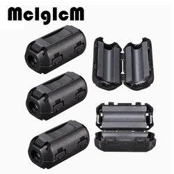 5pcs/lot EMI RFI Filters Black Plastic Clip On EMI RFI Noise Suppressor 5mm Cable Ferrite Core Filters Removable 25 (L) x10 (W)