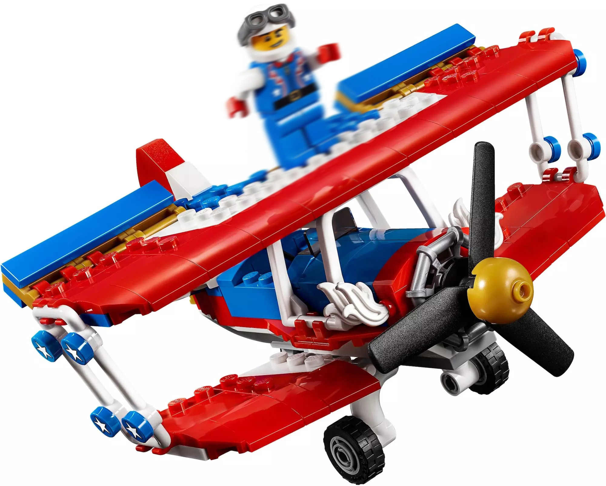 legoings 3-in-1 Daredevil Stunt Plane set Building Blocks 31076 Birthday Gifts Toys For Children 206 Pcs 11045