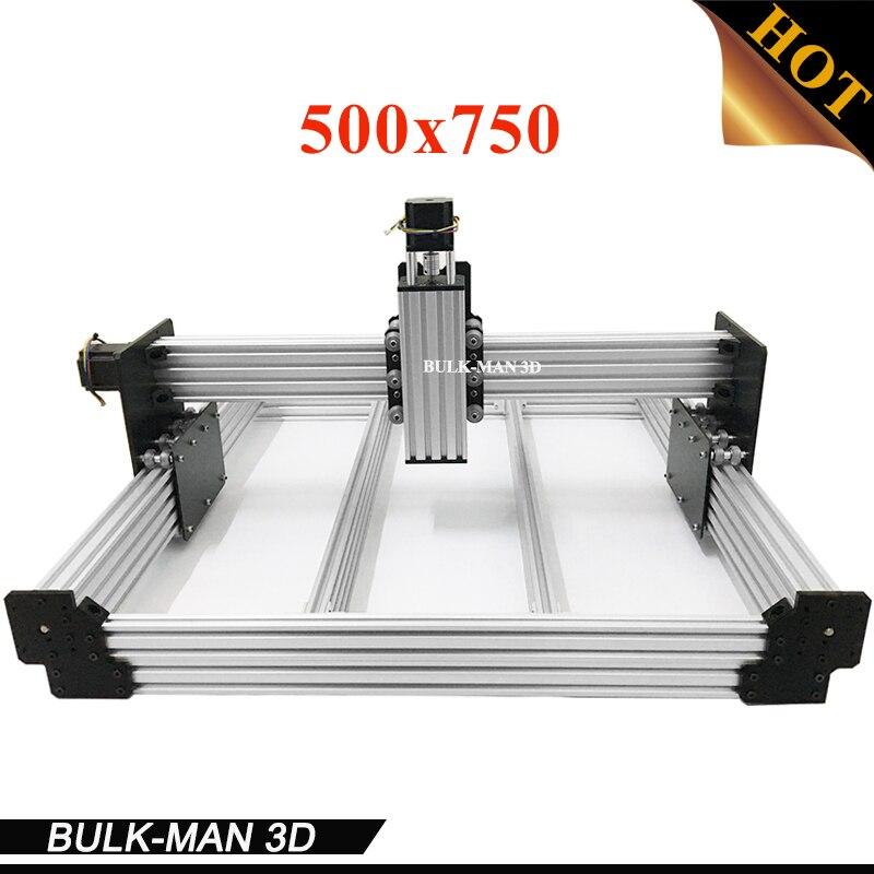 WorkBee CNC Mécanique Kit BOEUF CNC Kit Mise À Niveau Version DIY CNC Sculpture Machine outil, CNC Fraiseuse avec Moteurs 500x750mm