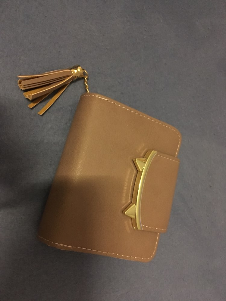 2019 Cute Cat Ears Leather Vintage Tassel Women Wallet Luxury Brand Famous Short Mini Womens Wallets And Purses For Credit Cards photo review