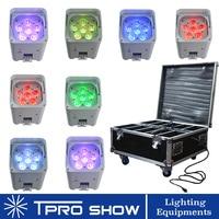 RGBWA UV Par LED Batterie Wireless Accu LED Par Battery Powered Par Light APP WiFi Remote LED Light Flight Case Packing 8 in 1