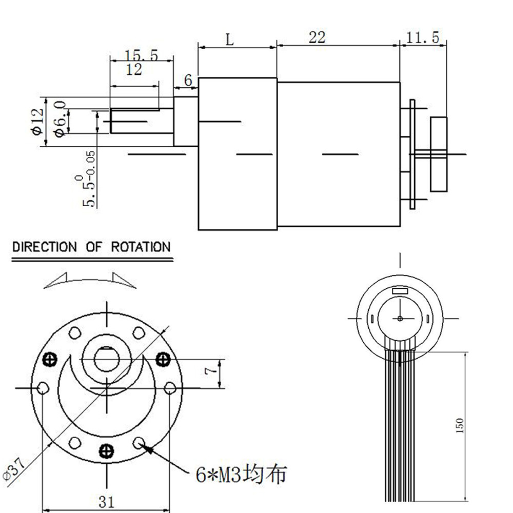 hight resolution of wholesale jgb37 520 micro gear motor 12v dc motor 6v 7 1590rpm with encoder mounting bracket coupling and wheel toy car kits in dc motor from home