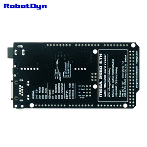 Image 3 - شحن مجاني ميجا 2560 ETH R3 مع ATmega2560 وإيثرنت W5500 ، مايكرو SD ، USB UART CP2104 ، مقبس واي فاي ESP 01