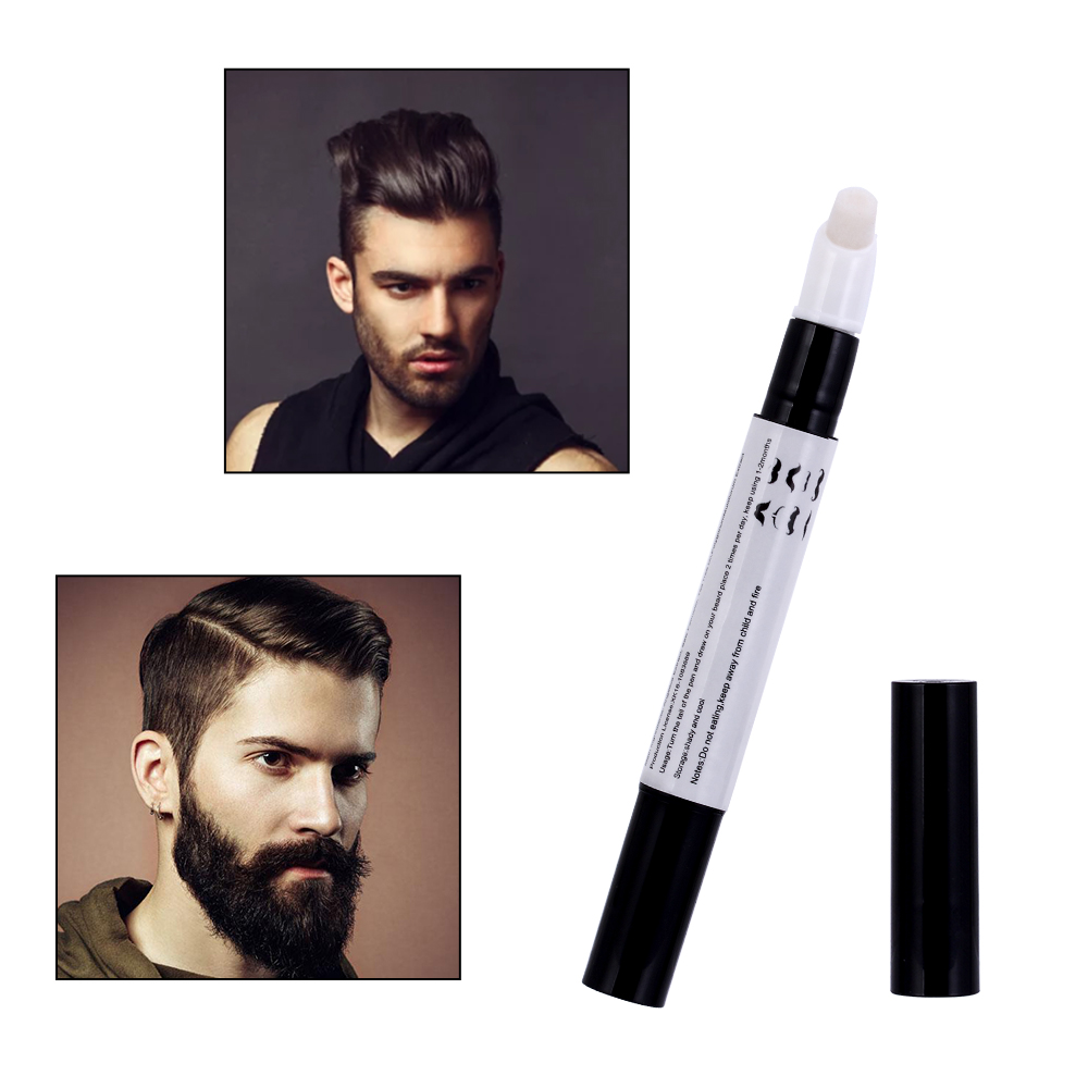 100% Natural Men Beard Growth Pen Liquid Beard Thick Growth Pen Fast Enhance Facial Whiskers Nutrition Moustache Eyebrow Styling
